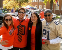 UVA Homecoming game 2011 against Georgia Tech. My husband Sal and I, along with my brother David Brown (SEAS '07) currently at Darden (Class of 2013) and his girlfriend Ellen Guier.
