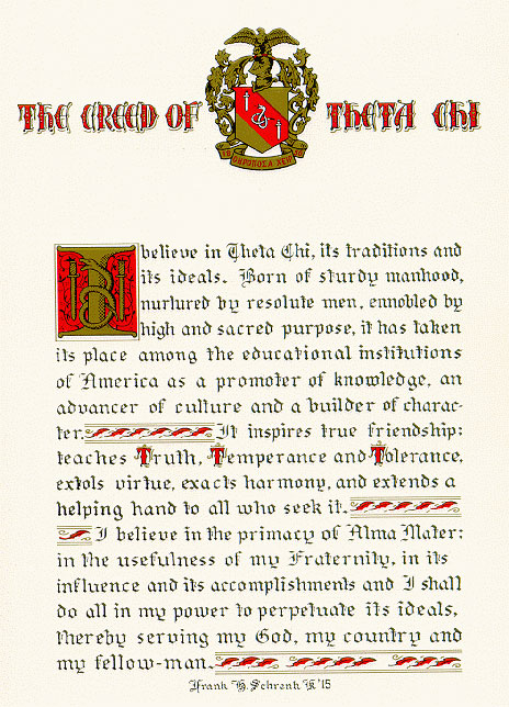 Theta Chi Creed